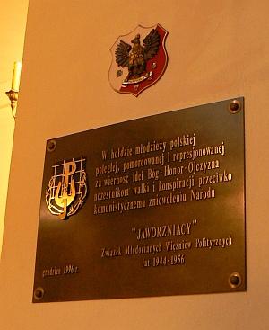 Tablica Pamiątkowa w kościele Matki Bożej Łaskawej  Patronki Warszawy