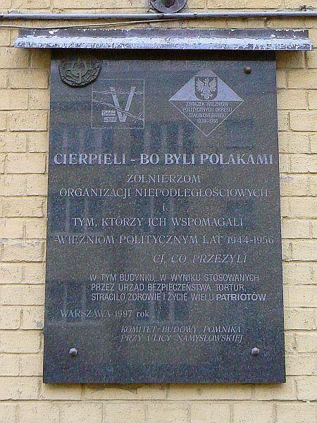 Tablica Pamiatkowa prz ul. Cyryla i Metodego