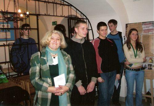 Młodzież szkolna z Zespołu Szkół przy ul. Konopczyńskiego