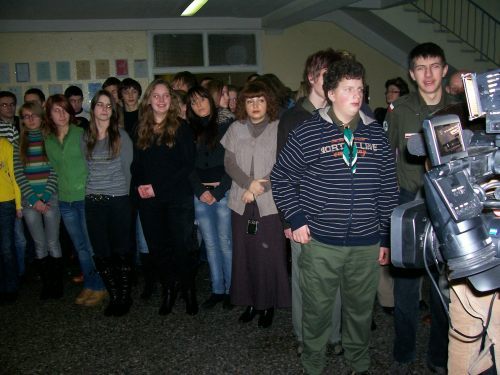 Młodzież Gimnazjum im. Jana Pawła II w Wilnie i polscy harcerze